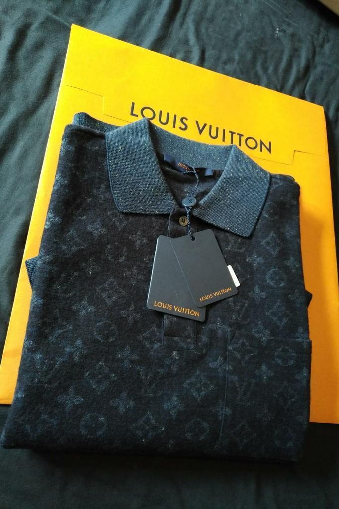 ab318f799891 Louis Vuitton tweed monogram polo