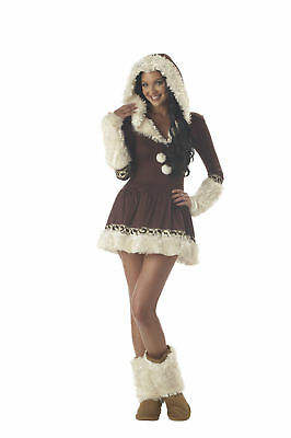 Sexy Eskimo Kisses Alaskan Winter Fur Adult Women Costume](Kiss Costume Women)