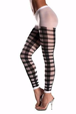 Lattice Work Pattern Footless Pantyhose Tights Costume Hosiery Black BW611