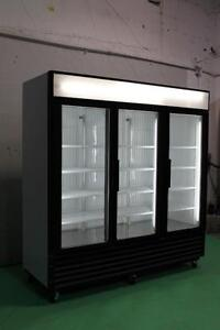 3 GLASS DOOR FREEZERS AND COOLERS TRUE GDM72F & TRUE GDM 72