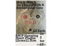 BNIP Special Nan Heart Plaque