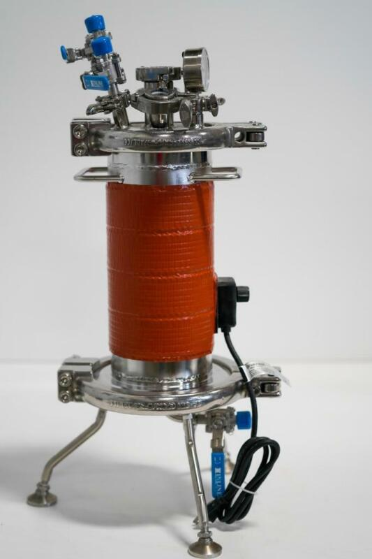Pope Scientific Nutsche Filter Dryer, 5 Liter-SS w/BriskHeat Heating Jacket