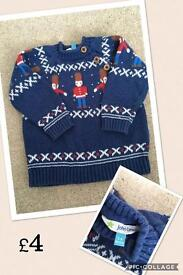 Boys 3-6 months clothes from £1 to £4
