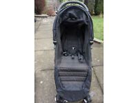 Baby Jogger City Mini in black with four wheels