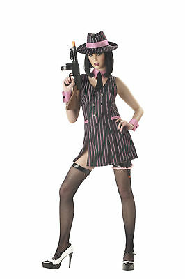 Mafia Hit girl Mobster Gangster Women Adult - Mafia Costumes