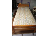 "Pine Single bed with quality mattress ""Good condition"""