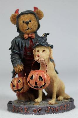 Boyds 'Timmy T Spookelbeary W/Jake' Halloween Trick or Treat  #4022265  RET  NIB