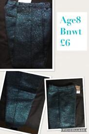 Next girls sparkly trousers 8y BNWT