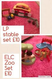Little People stable playset & ELC zoo playset