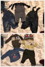 Boys 0-3month clothes bundle