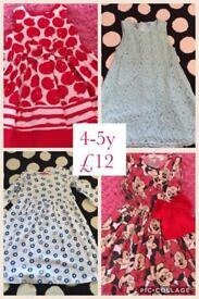 Girls 4-5y dresses x4