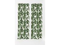 H&M Home Fig Leaf Botanical Curtains