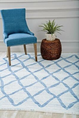Luxe Weavers Abstract Blue Area Rug