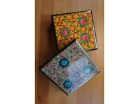 Two Crafts Wooden Boxes