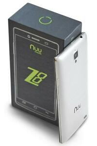 "NUU Mobile Z8 5.5"" FHD 4G LTE Android 5.1, 2GB/32GB Expandable. Grey and White.  **SAVE $120 on White Z8 Bundle**"