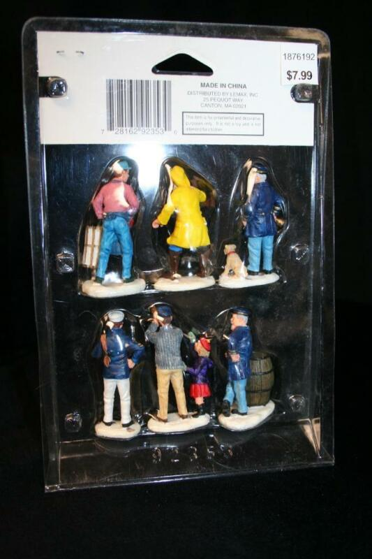 LEMAX VILLAGE COLLECTION - NAUTICAL POLY RESIN FIGURINES SET OF 6 NEW IN PACKAGE