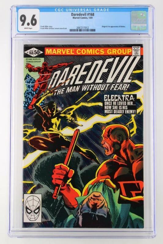 Daredevil #168 -NEAR MINT- CGC 9.6 NM+ Marvel 1981 - 1st App/ORIGIN Elektra!