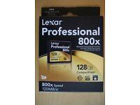 Lexar Professional 800x 128gb Compact Flash Card UDMA 7 & USB 3.0 Dual-Slot Reader