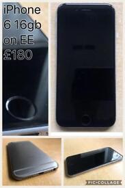 iPhone 6 space grey 16gb EE network