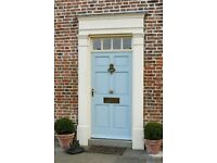 Replacement front doors. Only external doors and frames fast and clean service.