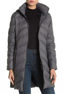 New with Tag - $240 MICHAEL Michael Kors Gunmetal Long Down Parka Size S Heavyweight Lined Parka