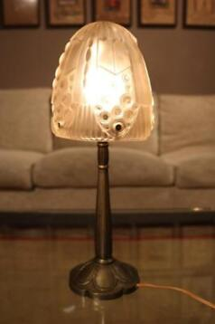Authentieke persglazen Art Deco lamp