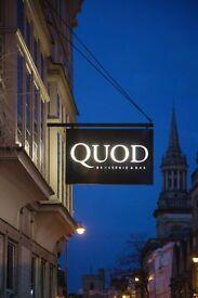 Commis Chef / Chef de Partie, Quod Restaurant - Oxford High Street