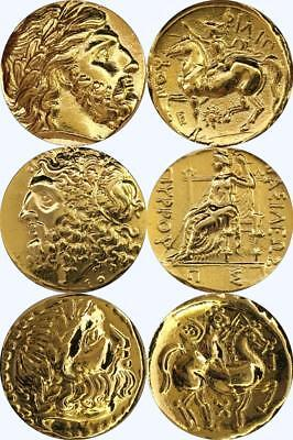 Zeus King of the Gods 3 Greek Coins Percy Jackson Fans Greek Mythology (3Zeus-G)