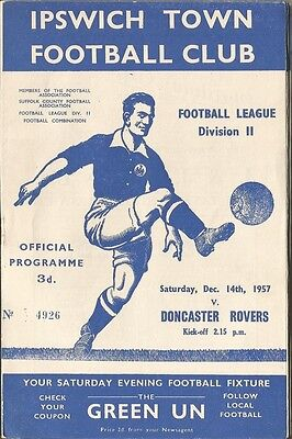 IPSWICH TOWN v DONCASTER ROVERS  1957/58