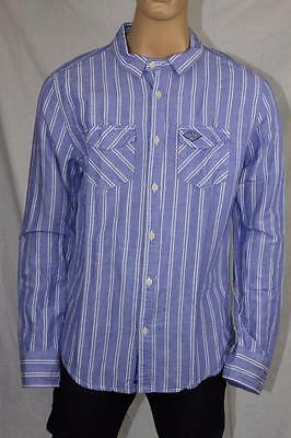 Auth Men's Superdry Stylish Denim Jean Shirt US XL, runs small, will fit XL.