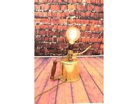 Steampunk Retro Vintage Brass Oil Can Lamp, postage available worldwide