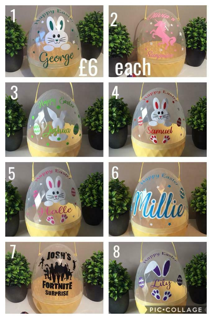 Personalised Easter egg hunt basket bucket fillable eggs Fortnite ... 9e2f37eea19