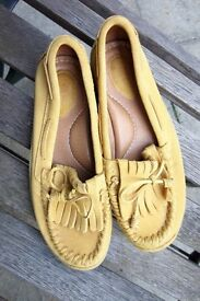 Fossil Gia Suede Leather Moccasin/Loafers.