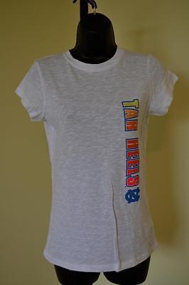 New   University Of North Carolina Tar Heels Womens Small S White T Shirt 73Am