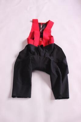 New Castelli Men's Premio Bib Shorts Black Red Medium Bike C