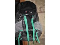 Berghaus Torridon 60 hiking rucksack ( like new)