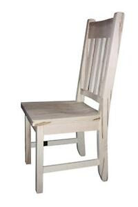 Amish Mennonite Handcrafted Solid Wood Unfinished Dining Chairs - FREE SHIPPING