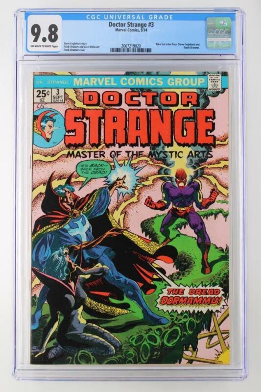 Doctor Strange #3 -MINT- CGC 9.8 NM/MT - Marvel 1974 - Fake Fan Letter!