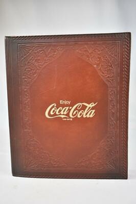 Vintage Coca-Cola Salesman's Leather notebook Folder