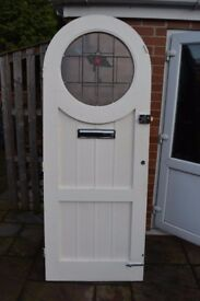 Arched solid wood front door