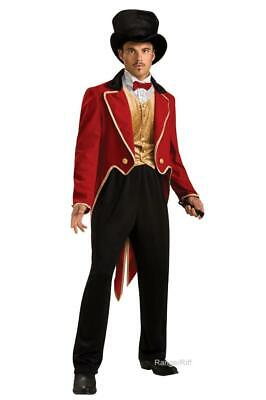 Circus Ring Master Costume Red Coat Mens Great Showman Tail Top Hat Ringmaster