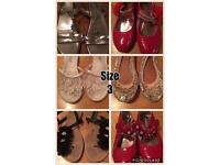 Girls shoes sizes 3 and 4