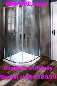 Complete shower enclosure