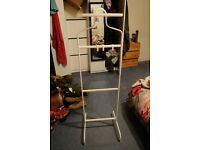 white valet stand, perfect condition, less than 8 months life