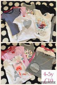 Girls 4-5y tshirt bundle