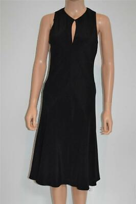 Ralph Lauren Black Silk Sleeveless Keyhole Dress/Size 6