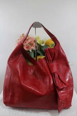 KATE SPADE red  patent leather bow CLAVERLY hobo bag (300