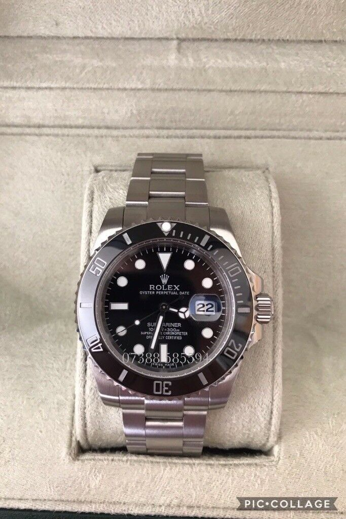 Rolex submariner oyster diver 40mm luxury automatic Watch brand new in Swiss wave box black dial