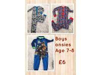 Boys pyjamas & onesies