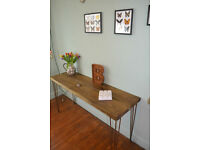 Industrial Console Table Hall Table Mid Century Modern Style hairpin